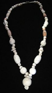 Ancient Afghani White Treated Carnelian Beads (Front)