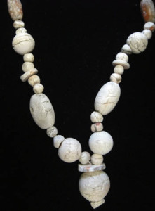 Ancient Afghani White Treated Carnelian Beads (Back)