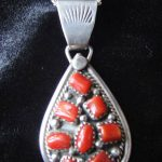 Coral Pendant Necklace