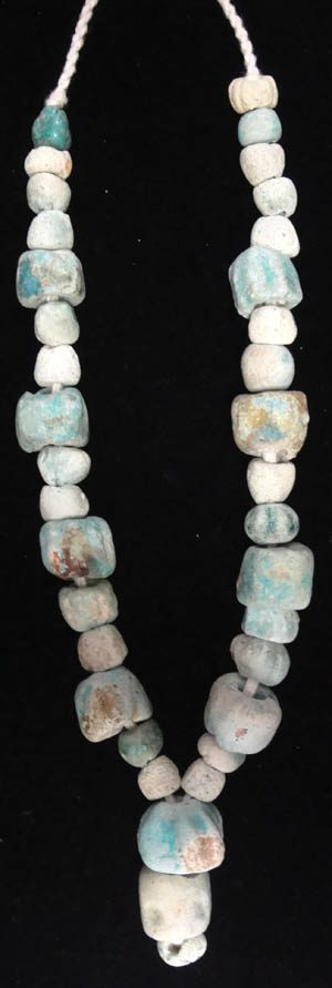 ancient persian faience beads