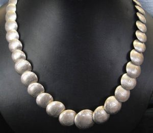native american silver bead necklace