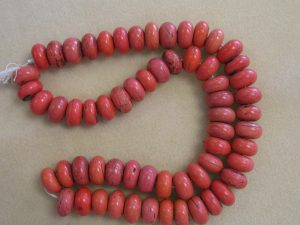 "Antique Sherpa ""Coral"" Glass Bead Strand"