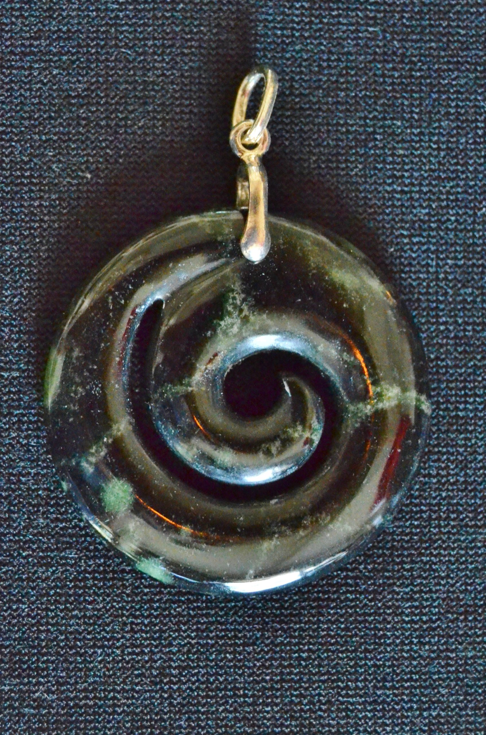 pendant hand carved wood unfurl spiral necklace ebony p novica
