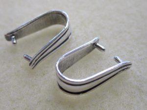 sterling silver pinch bail