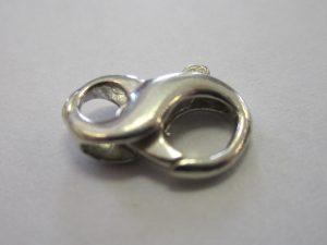 Sterling Silver Figure Eight Lobster Claw Clasp