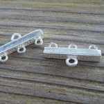 sterling silver connector bar
