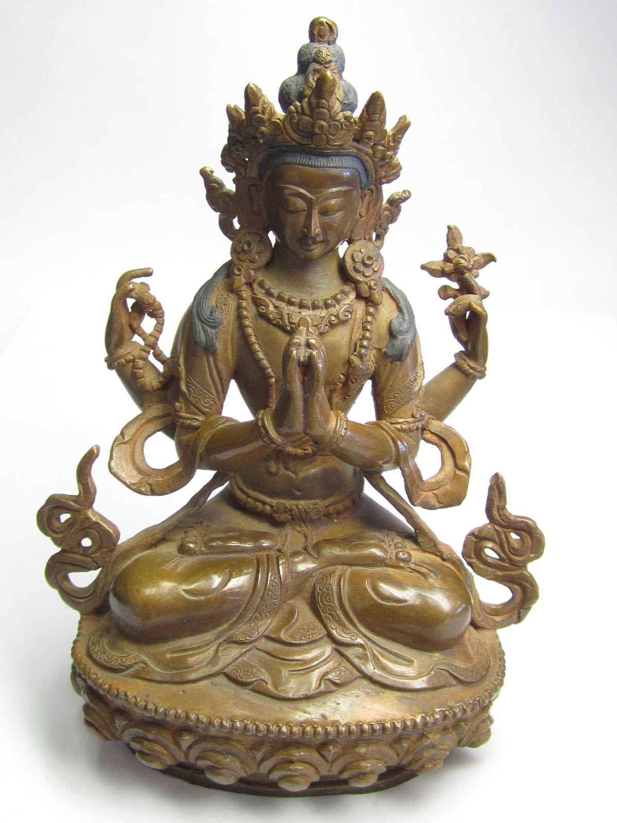 Tara Hindu Deity Statue Bronze 6 Quot Tall Sealed Underneath
