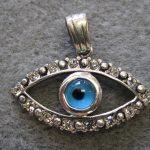 Sterling Silver Evil Eye Pendant