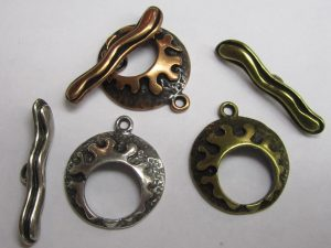 silver plated toggle clasps