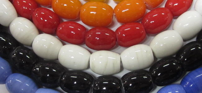 glass barrel beads