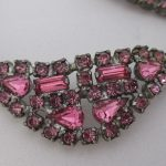 Vintage Rhinestone Jewelry - Rose Pink Necklace