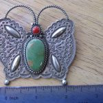 Navajo Silversmith Herman Smith Butterfly Pin/Pendant