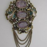 Vintage Amethyst Brooch SOLD
