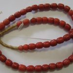 Czech African Trade Beads - Coral Color Glass