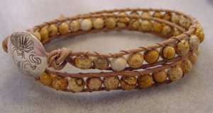 Gemstone Wrap Leather Bracelet DEC. 12th 6PM @ Bead World, Inc. | Palatine | Illinois | United States