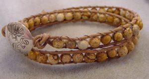 Gemstone Wrap Leather Bracelet DEC. 12th 6PM @ Bead World, Inc.   Palatine   Illinois   United States