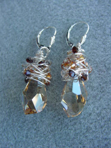 BEAD CLASS: SWAROVSKI WRAP EARRINGS @ Bead world | Black River Falls | Wisconsin | United States