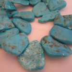 Bisbee Turquoise Large Flat Nuggets