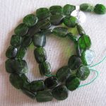 Chrome Diopside Beads - 12mm Flat Nugget