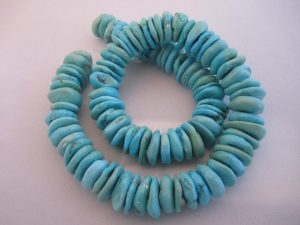 Sleeping Beauty Turquoise Round Flat Nuggets - 14mm