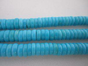 Sleeping Beauty Turquoise Beads - 6 mm Rondelle