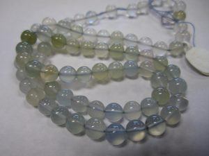 Chalcedony Natural Color Beads Strand- 5mm Rounds all natural pale blue with a hint of brown. dChalcedony Natural Color Beads Strand- 5mm Roundsifficult to find, last one
