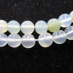 Chalcedony Natural Color Beads Strand- 5mm Rounds