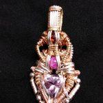 Wrap Pendant - Amethyst, Star Ruby, Garnet