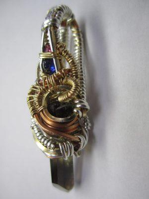 Wire Wrapped Pendant - Smokey Quartz, Sapphire, Garnet