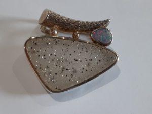 Opal and Druzy Quartz