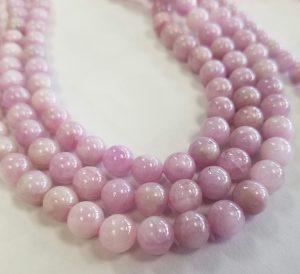 Kunzite beads round