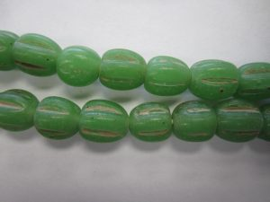Melon Beads Java Lampwork Glass 10mm