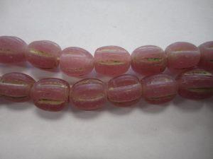 Melon Beads Java Lampwork Glass 10mm