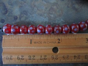 Indonesian Glass Maroon with Blue Dot-Picture2
