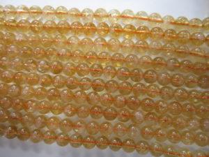 Natural Citrine Round Beads 6mm