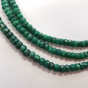 faceted emeralds