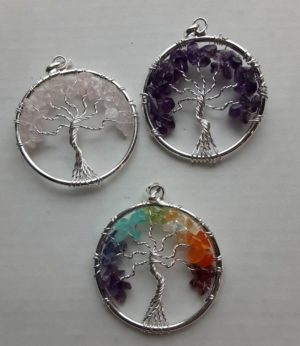 Tree of Life Pendant - Wire and Gemstone