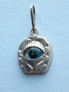 Evil Eye Silver Charm