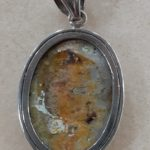 Bumble Bee Jasper Sterling Pendant