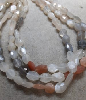Moonstone Faceted Ovals