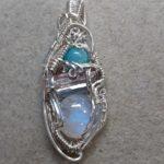 Moonstone wire wrap pendant